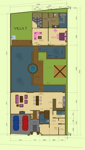 Villa Annecy Lower Floor Plan